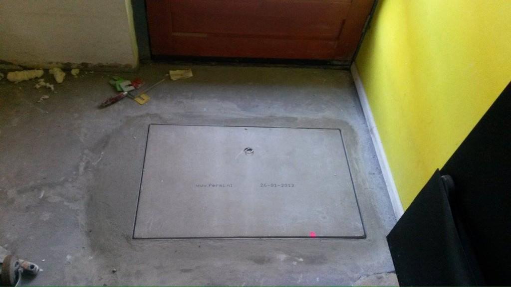 Woning voorzien van een vloerluik